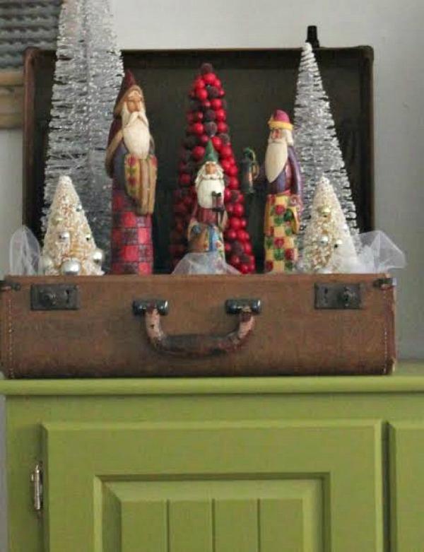 A Suitcase Of Santas