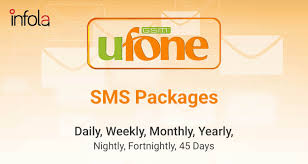 Ufone SMS Packages -Daily [Prepaid and Postpaid Bundles]