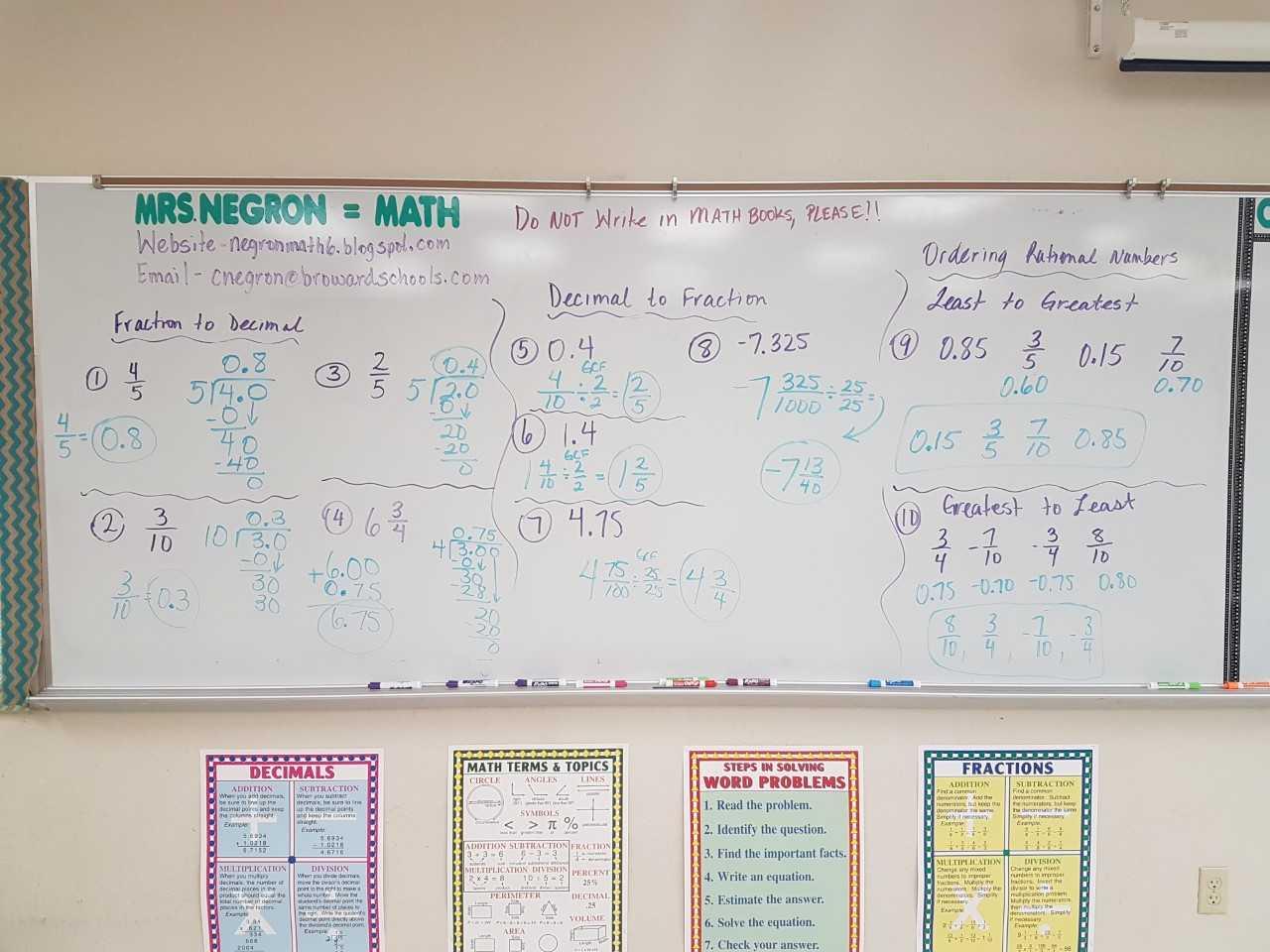 Mrs Negron 6th Grade Math Class