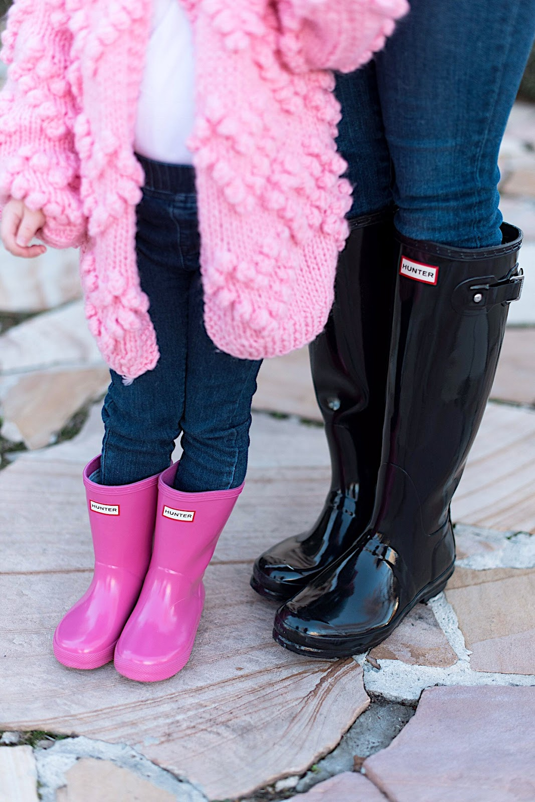 Mommy and Me Hunter Boots - All details can be found on Something Delightful Blog