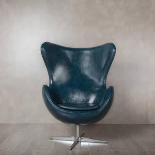 Sillon Eco piel Azul Envejecido Aneast