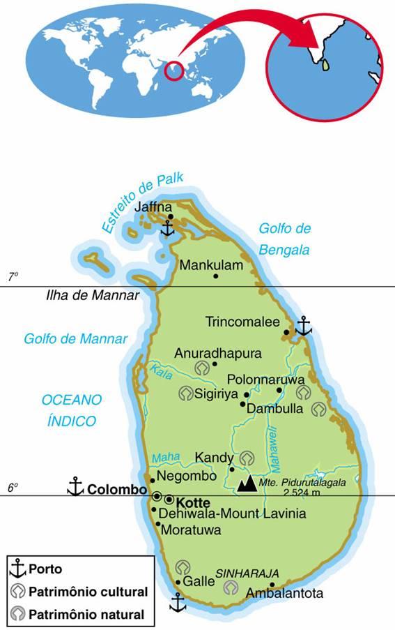 SRI LANKA - ASPECTOS GEOGRÁFICOS E SOCIAIS DE SRI LANKA