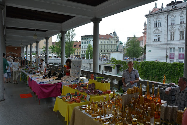 Market Ljubljana glass