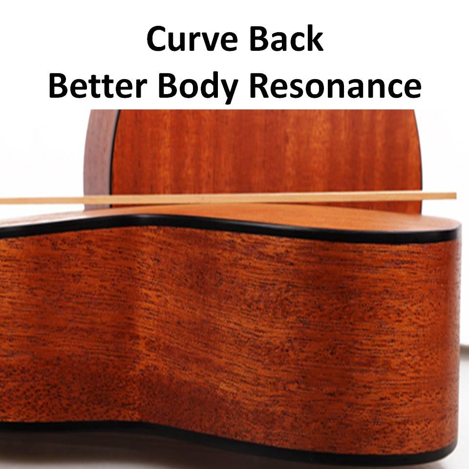 Ukulele Tauro TR52 [Ukulele Review By Mato Music] curve back