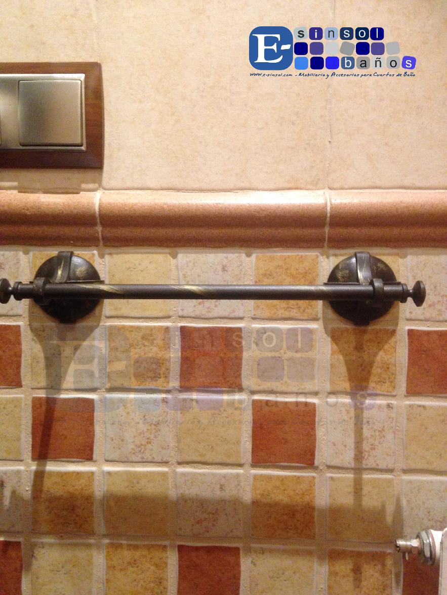 El blog del ba o los accesorios de ba o r sticos de for Toalleros rusticos