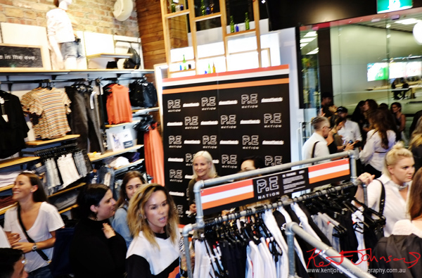 Pip Edwards P.E. Nation sportswear Launch Party at General Pants Bondi Junction.