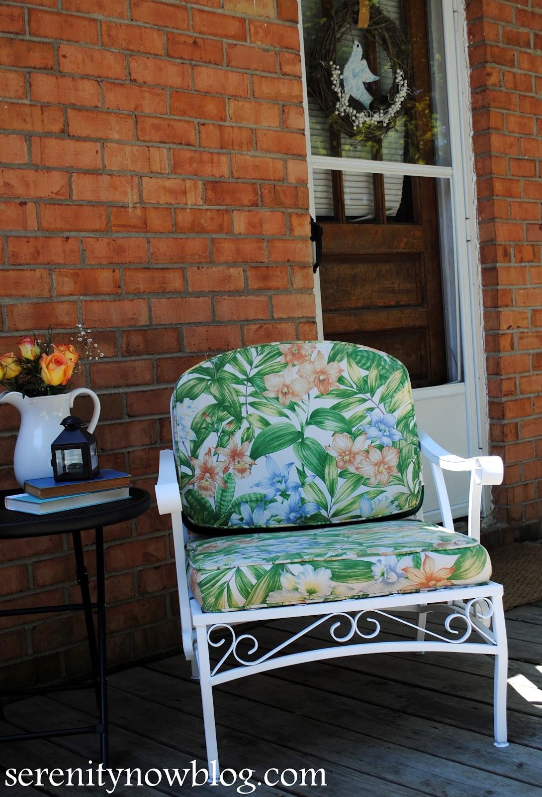 Serenity Now How To Clean And Paint Vintage Metal Patio
