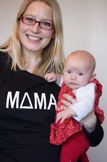Mama sweatshirt and baby
