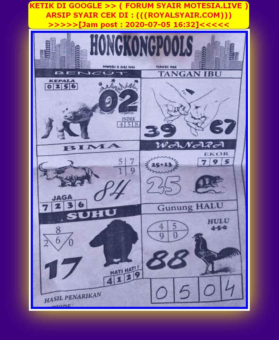 Kode syair Hongkong Minggu 5 Juli 2020 65