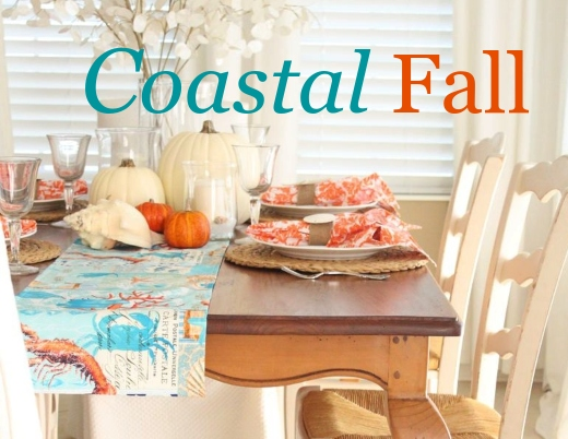 Coastal Fall Home Decor Ideas Pumpkin Decorations Tabletop Decorating