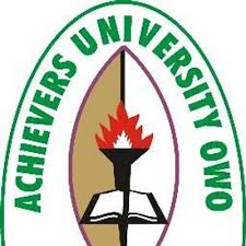 Achievers University 2018/2019 Post-UTME/DE Admission Screening Form