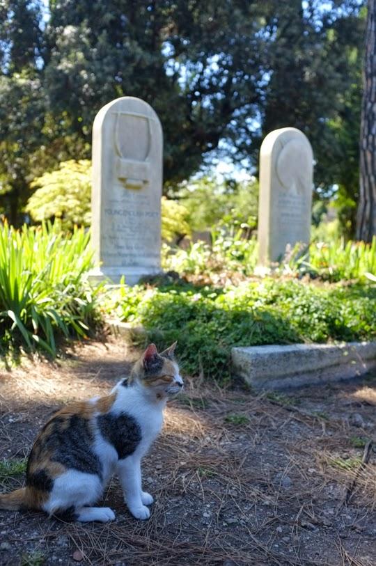 John Keats gravesite Protestant Cemetery Rome