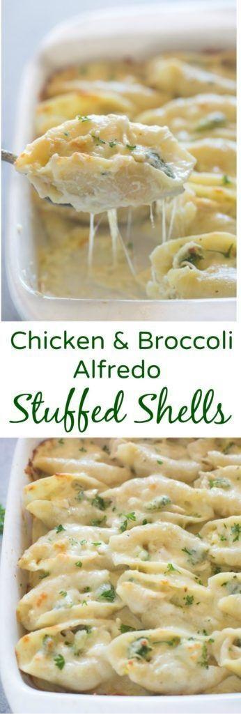 Chicken And Broccoli Alfredo Stuffed Shells