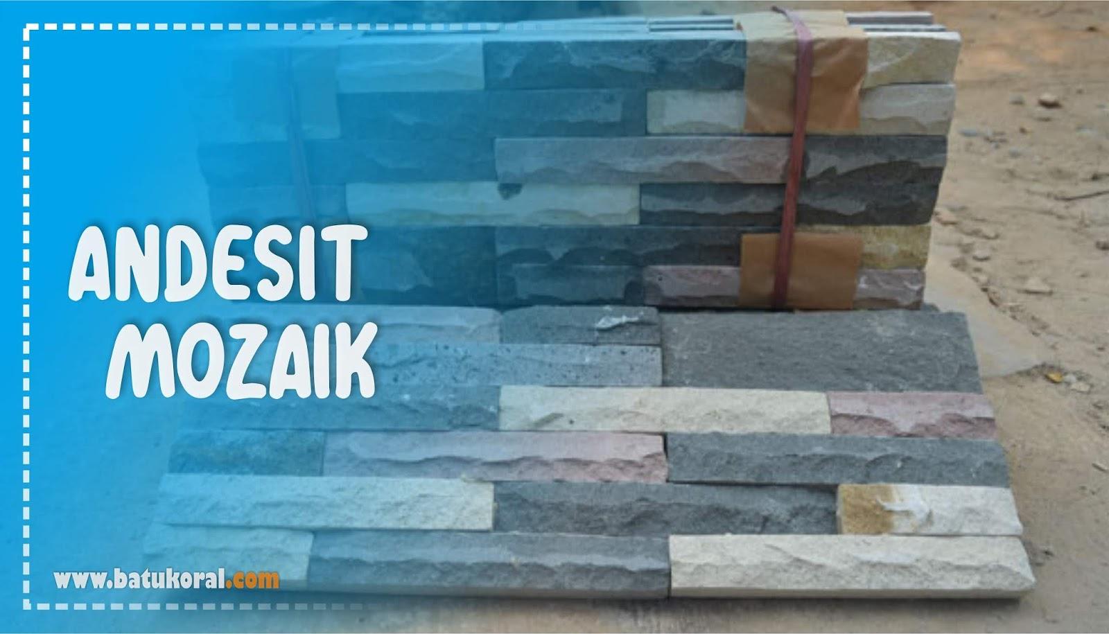 batu andesit mozaik