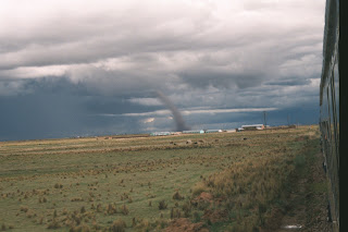 Tornado on the Peruvian altiplano