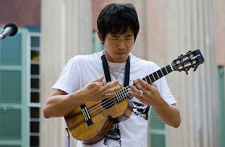 jake shimabukuro with ukulele strap