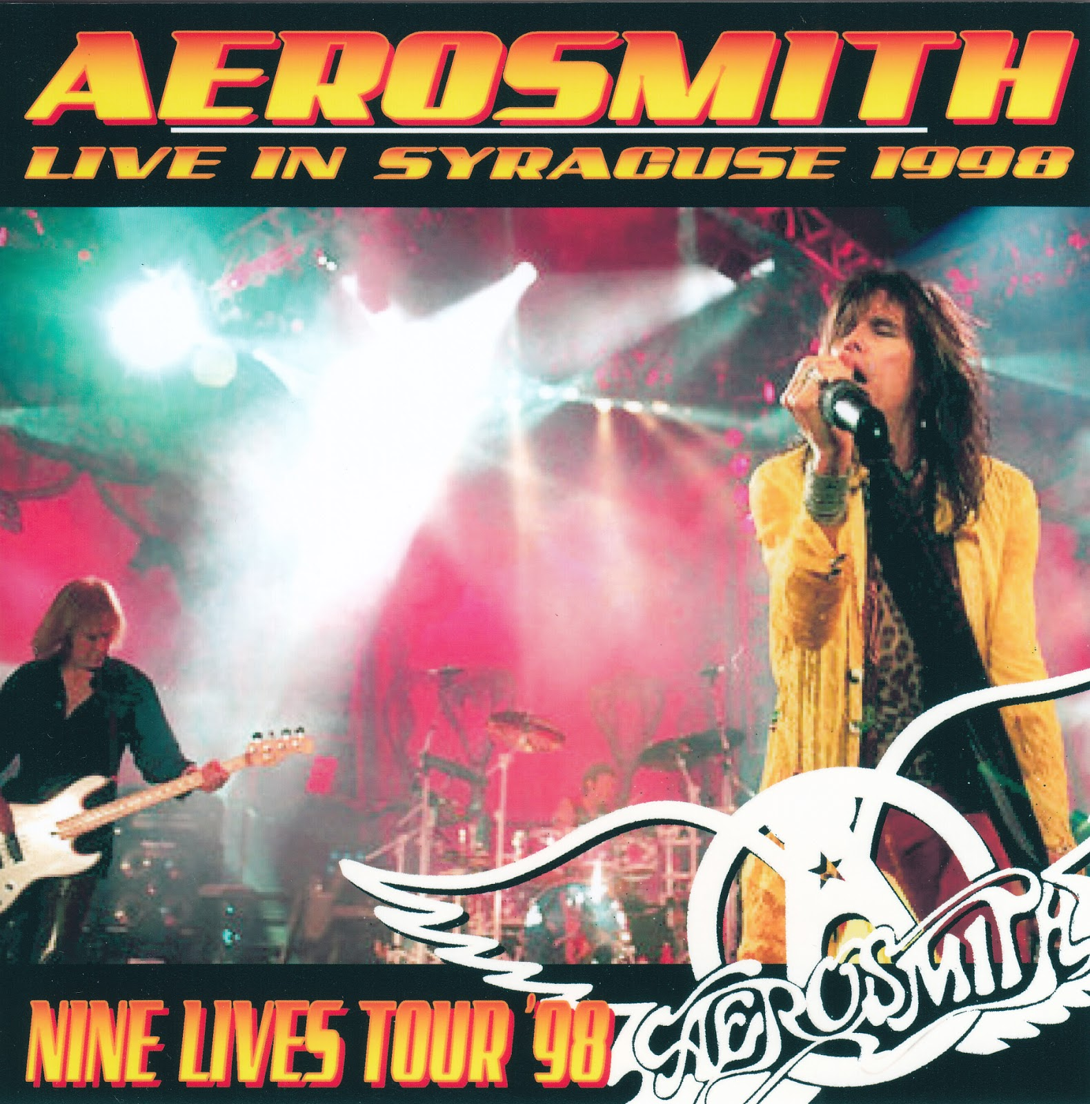 Aerosmith Bootlegs Cover Arts Live In Syracuse 1998