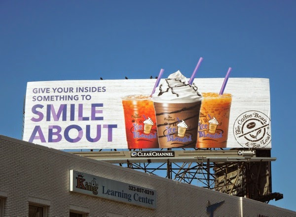 insides something to smile about Coffee Bean Tea Leaf billboard