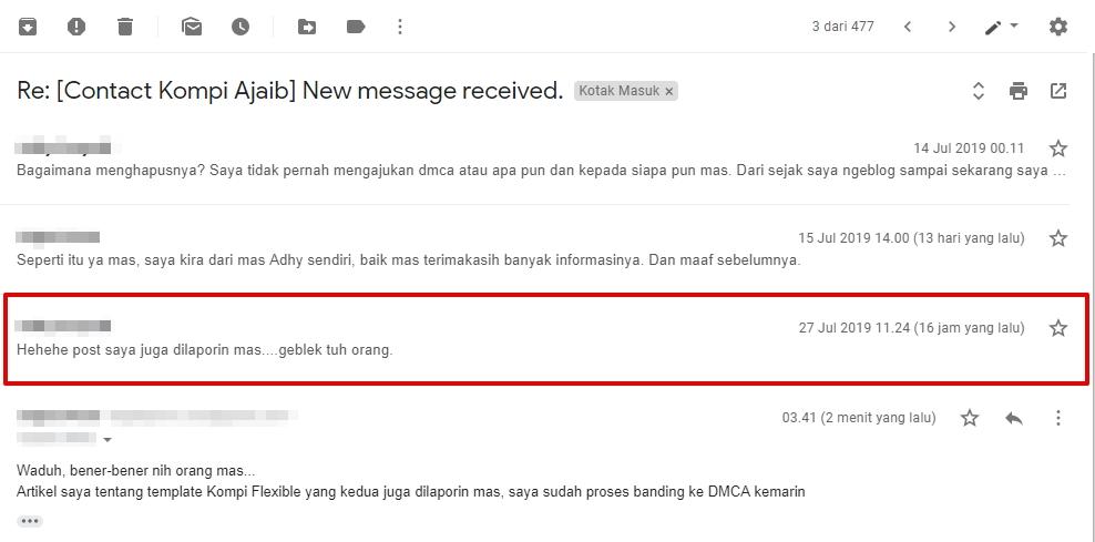 Email dari mas Adhy