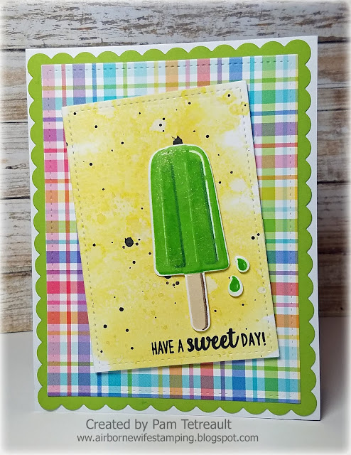 Sunny Studio Stamps: Perfect Popsicles Sweet Day Card by Pam Tetreault