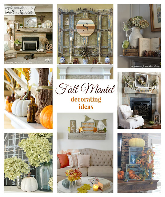 Gorgeous fall mantels ideas ~ Postcards from the Ridge