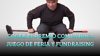 COGER EL PREMIO CON LA BOCA JUEGO DE FERIA Y FUNDRAISING