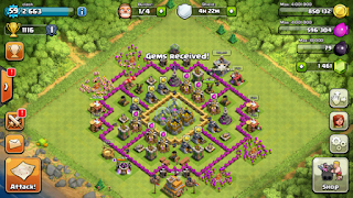 1200 bag of gems clash of clans
