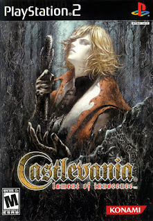 Portada del DVD de Castlevania: Lament of Innocence para Play Station 2 en 2003 (Konami)