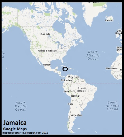 mapa de jamaica en am%c3%a9rica, google maps 2012