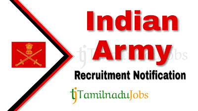 Indian Army Recruitment notification 2019, govt jobs for engineers