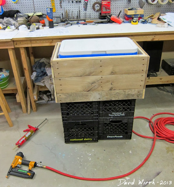 building a pinterest wood cooler stand