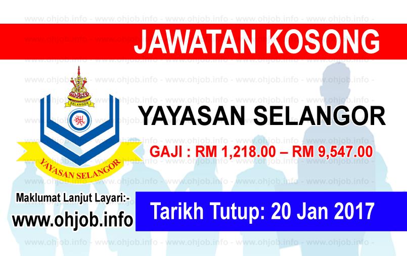 Jawatan Kerja Kosong Yayasan Selangor logo www.ohjob.info januari 2017