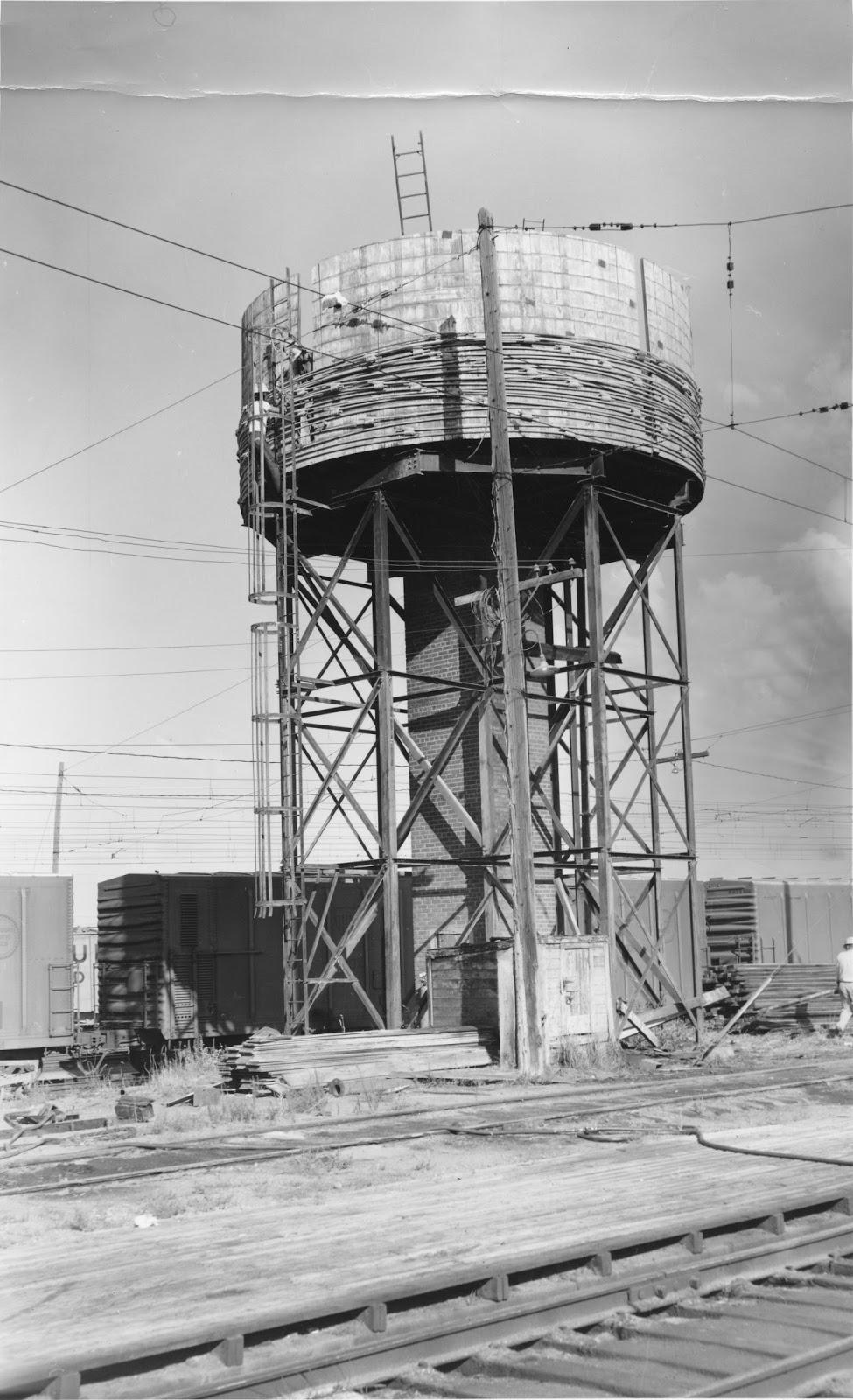 Water Tank Demolition : Big bend railroad history othello water tank demolition