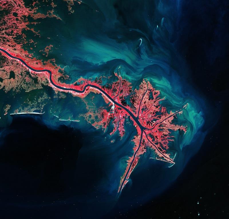 Resultado de imagem para rio mississipi e amazonas, landsat