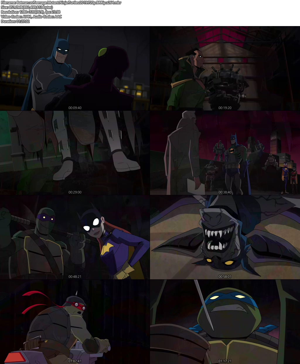Batman vs Teenage Mutant Ninja Turtles 2019 720p BRRip | 480p 300MB | 100MB HEVC Screenshot