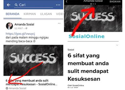 tanda kilat di postingan facebook