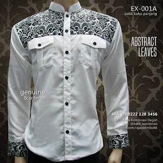 gambar baju koko batik lengan panjang