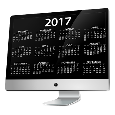 Happy New Year PNG Calendar 2017