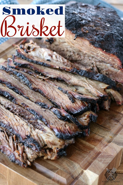 Smoked Brisket recipe from Kickin' Up Smoke is tender, juicy, and full of smoke flavor.