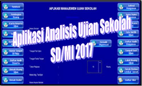 Aplikasi Analisis Ujian Sekolah SD/MI 2017