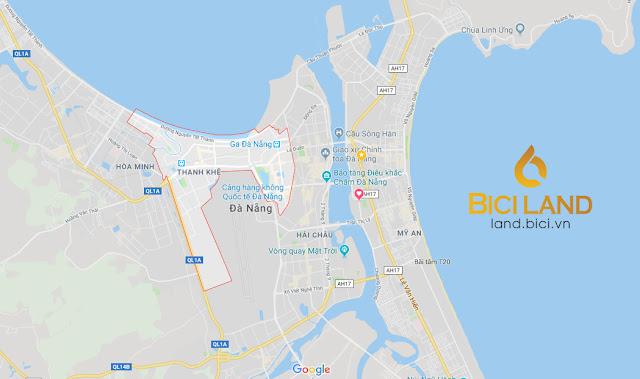 Vị trí quận Thanh Khê Đà Nẵng