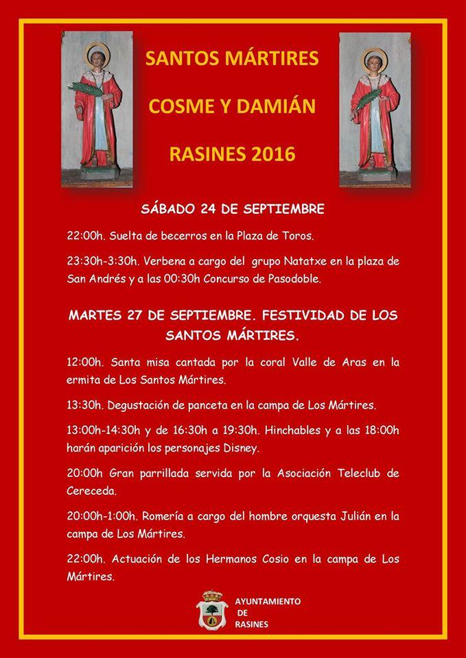 Fiestas de Los Santos M�rtires Cosme y Dami�n en Rasines 2016