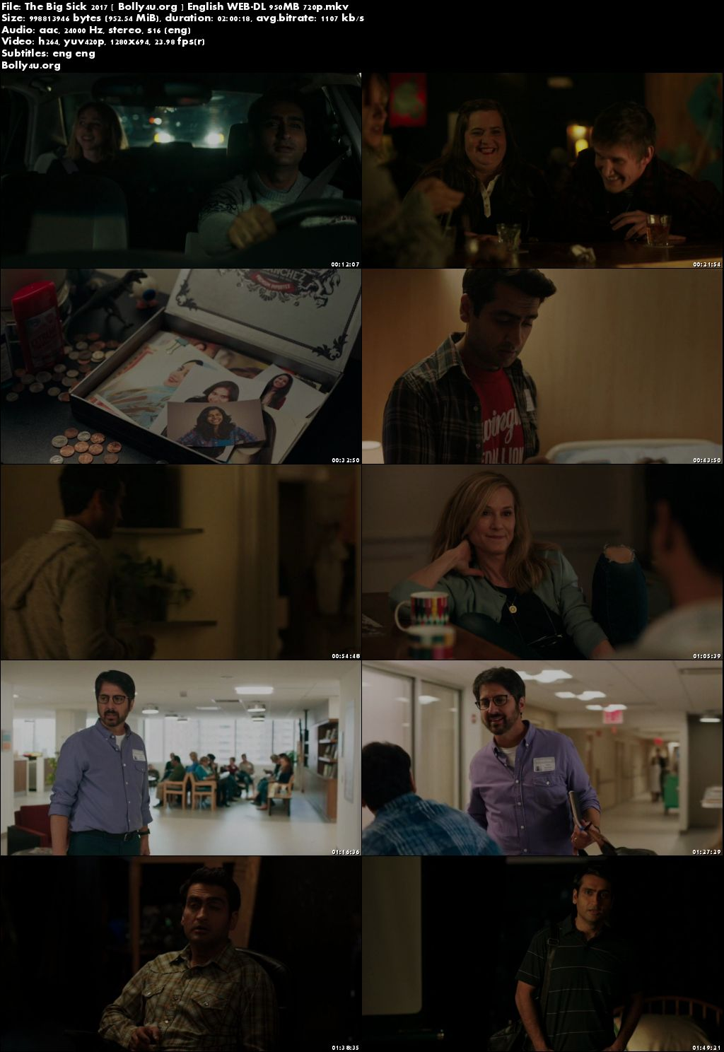 The Big Sick 2017 WEB-DL 950MB English Movie 720p ESubs Download