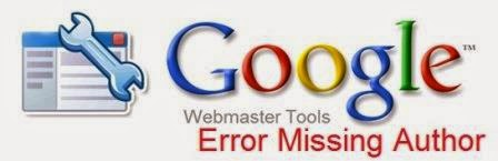How To Fix Error Missing Author in Blogger