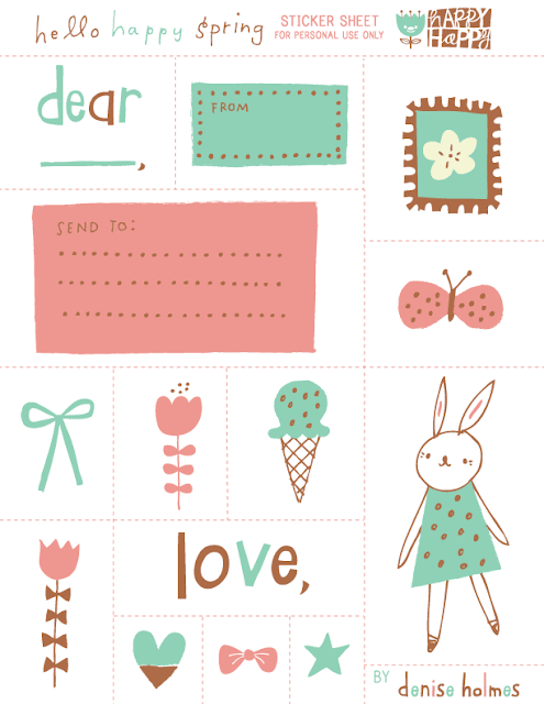 free easter theme planner printables