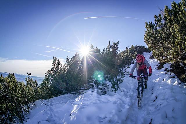 Fatbike Trail Abfahrt Monte Roen Kaltern