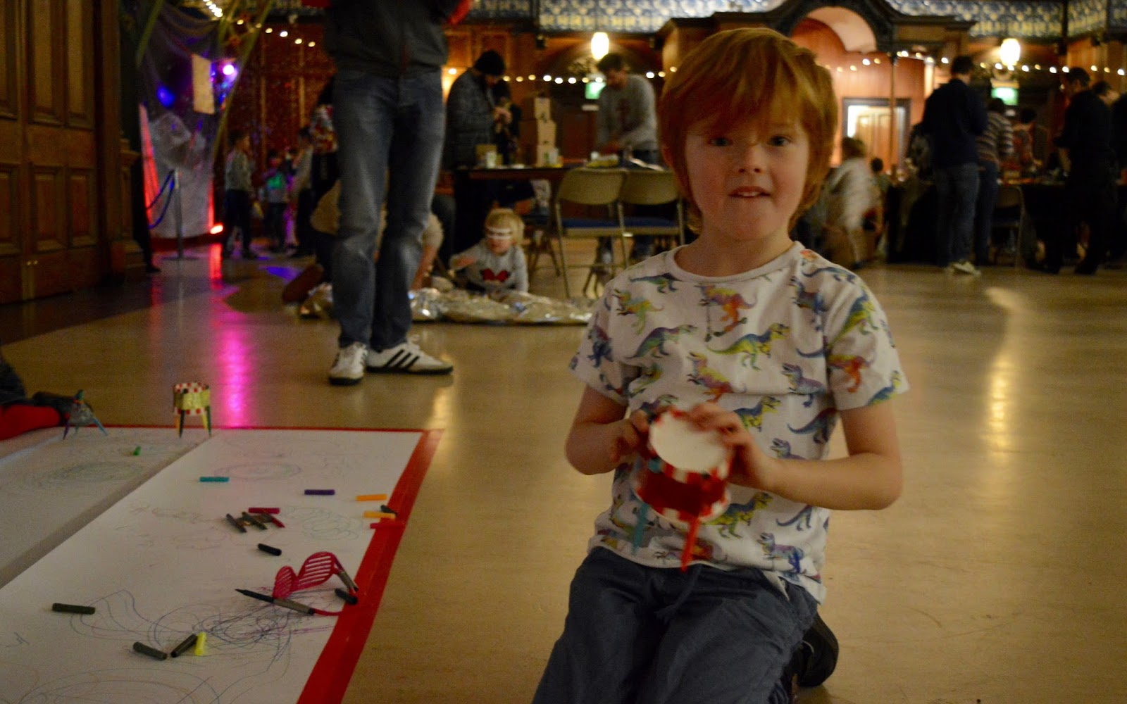 Discovery Museum Newcastle | Play + Invent Events | A Review | Hex bug drawing