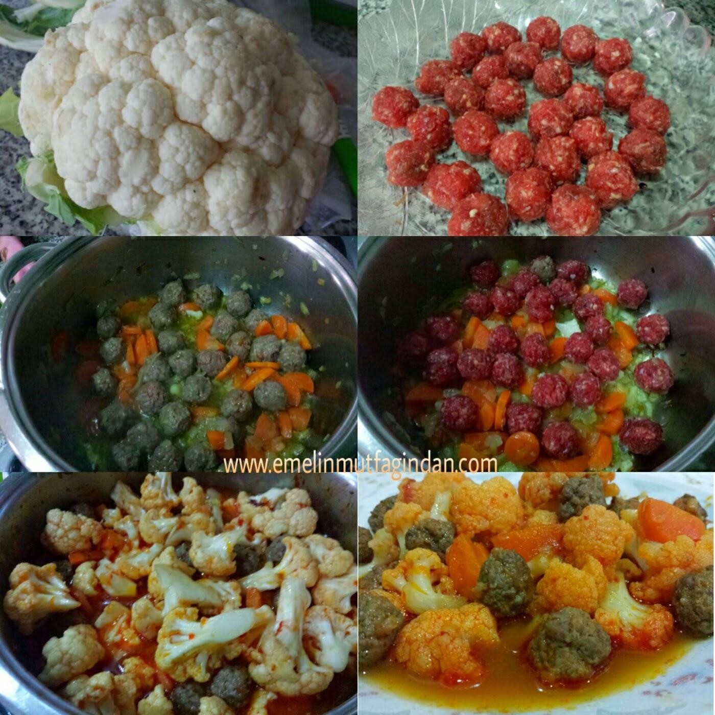 Köfteli Karnabahar Yemeği