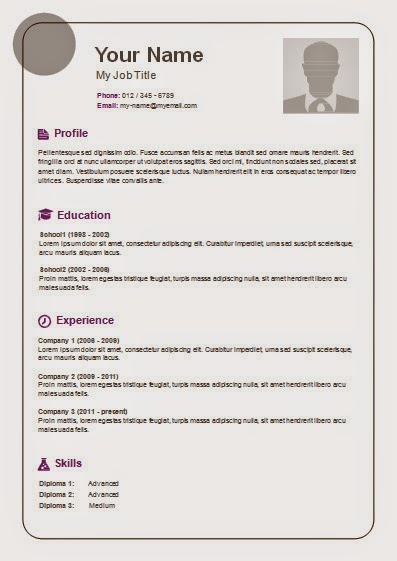 Free Resume Templates - Online Resume Template Free Resume Template