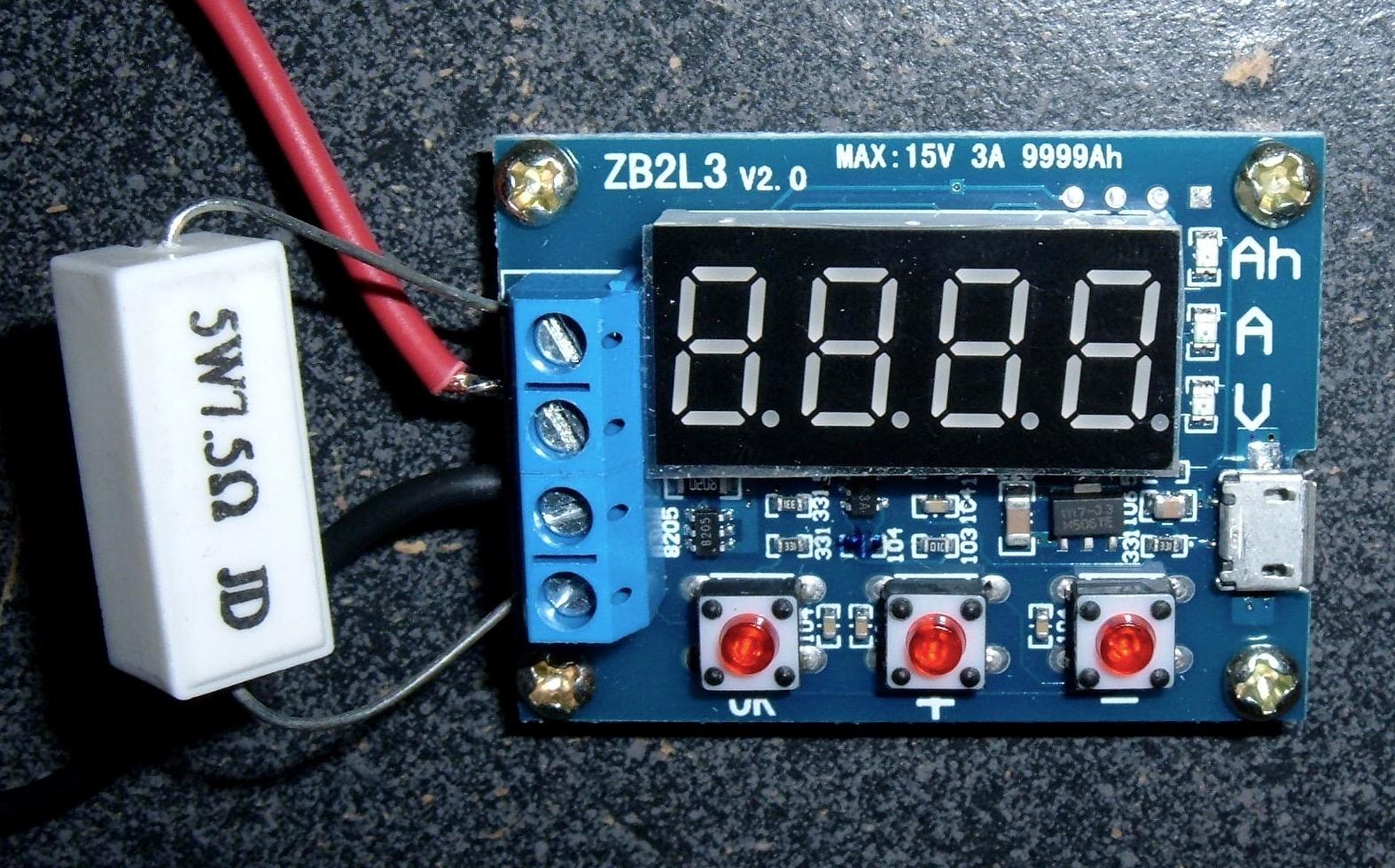 Battery Capacity Test : Syonyk s project zb l v zhiyu battery tester